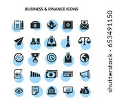 business   finance icons | Shutterstock .eps vector #653491150