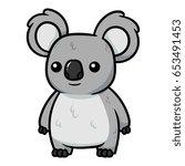 Cartoon Koala Vector...
