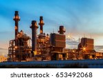 gas combine electric power... | Shutterstock . vector #653492068