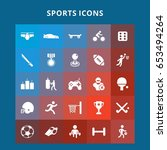 sports icons | Shutterstock .eps vector #653494264