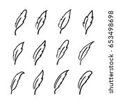 vector group of hand drawn...   Shutterstock .eps vector #653498698