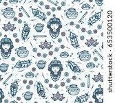 vector seamless pattern for... | Shutterstock .eps vector #653500120