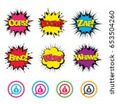 comic wow  oops  boom and wham... | Shutterstock .eps vector #653504260