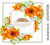 romantic invitation. wedding ... | Shutterstock .eps vector #653507038