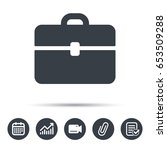 briefcase icon. diplomat... | Shutterstock .eps vector #653509288