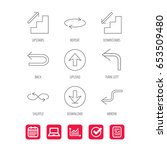 arrows icons. download  repeat... | Shutterstock .eps vector #653509480