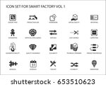 smart factory vector icons like ... | Shutterstock .eps vector #653510623