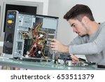 hardware computer technician | Shutterstock . vector #653511379