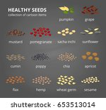 different kinds of healthy... | Shutterstock .eps vector #653513014