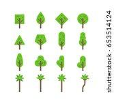 flat design tree set... | Shutterstock .eps vector #653514124