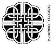 celtic pattern. element of... | Shutterstock .eps vector #653515360