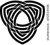 celtic pattern. element of... | Shutterstock .eps vector #653515438