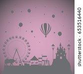 the dream theme park for kids | Shutterstock .eps vector #653516440