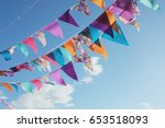 Summer festive colorful bunting ...