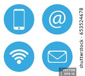 set of icons of online... | Shutterstock .eps vector #653524678