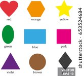 vector set of geometric shapes... | Shutterstock .eps vector #653524684