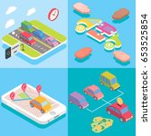 carpool service concept in... | Shutterstock .eps vector #653525854