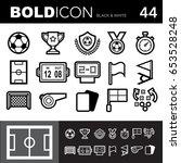 bold line icons  soccer ... | Shutterstock .eps vector #653528248