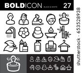 bold line icons  spa and...