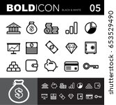 bold line icons  business and... | Shutterstock .eps vector #653529490