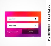 bright pink login form template ...