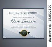 clean certificate of... | Shutterstock .eps vector #653532520