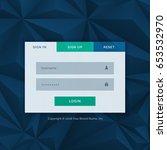 modern login form template for...