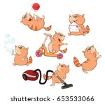set of vector cartoon... | Shutterstock .eps vector #653533066