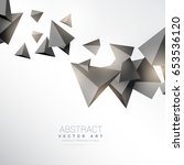 3d triangles shapes floating on ... | Shutterstock .eps vector #653536120