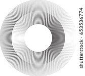lines in circle form . vector... | Shutterstock .eps vector #653536774