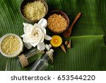 green leaf texture and health...   Shutterstock . vector #653544220