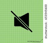 mute sound icon. vector...