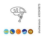bike helmet icon   Shutterstock .eps vector #653545873