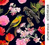 sakura blossom in japanese... | Shutterstock .eps vector #653548168