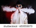 stylish man in sunglasses...   Shutterstock . vector #653553073