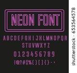 neon font   Shutterstock .eps vector #653564578