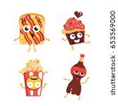 fast food characters   modern...   Shutterstock . vector #653569000