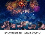 celebrating the 4th of july ... | Shutterstock . vector #653569240