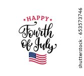vector fourth of july hand... | Shutterstock .eps vector #653573746