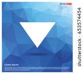 down arrow icon   Shutterstock .eps vector #653574454