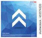 upper arrow icon | Shutterstock .eps vector #653576320