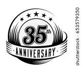 35 years anniversary design... | Shutterstock .eps vector #653579350