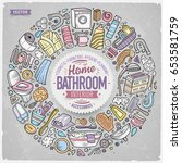 colorful vector hand drawn set... | Shutterstock .eps vector #653581759