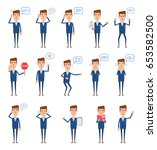 set of businessman characters... | Shutterstock .eps vector #653582500