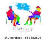the psychologist and the client....