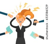 vector illustration. stress at... | Shutterstock .eps vector #653586529