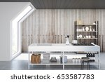 front view of an interior of an ... | Shutterstock . vector #653587783