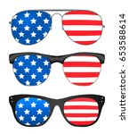 sunglasses with united states... | Shutterstock .eps vector #653588614