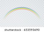 rainbow icon isolated on... | Shutterstock .eps vector #653593690