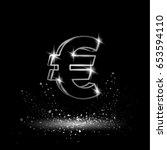 silver euro money symbol....
